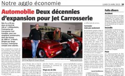 Actualités : Notre agglo - Jet Carrosserie Illzach (68110)