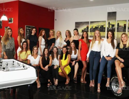 Visite des candidates de Miss Alsace 2018
